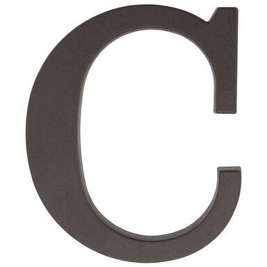 Litera C wys. 9 cm PVC brązowa