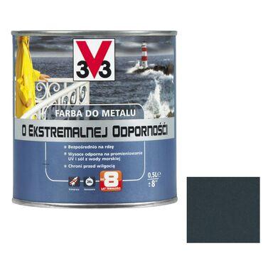 Farba antykorozyjna O EKSTREMALNEJ ODPORNOŚCI 0.5 l Czarny Mat V33