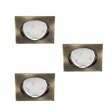 Zestaw opraw stropowych 3 szt. TRIBIS-L-AB patyna GU10 + LED KANLUX