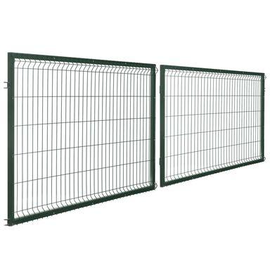 Brama dwuskrzydłowa STARK 400 x 120 cm zielona POLBRAM