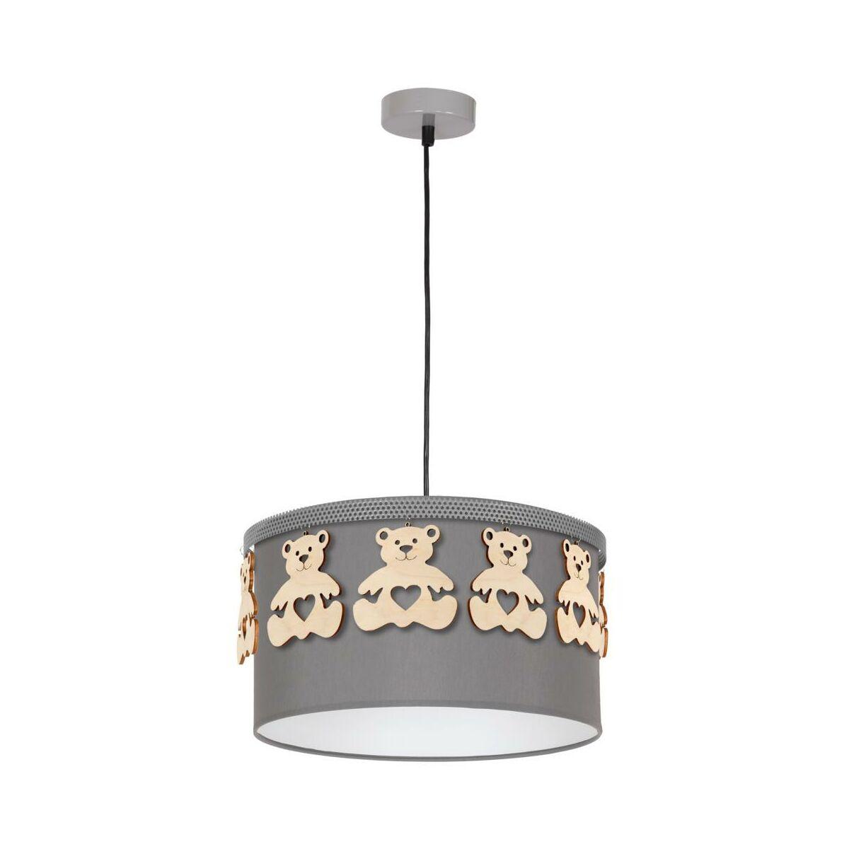Lampa Wiszaca Mis Szara Z Drewnem E27 Eko Light Zyrandole Lampy Wiszace I Sufitowe W Atrakcyjnej Cenie W Sklepach Leroy Merlin