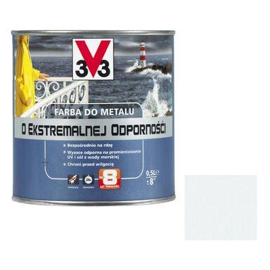 Farba antykorozyjna O EKSTREMALNEJ ODPORNOŚCI 0.5 l Biały Połysk V33
