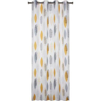 Zasłona gotowa ACOMA  kolor Szary 140 x 245 cm Kółka 130 g/m²