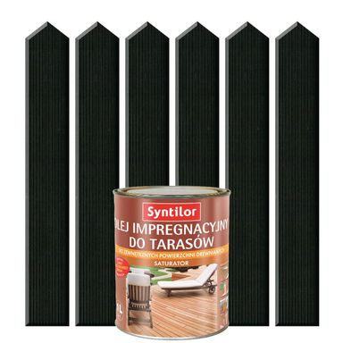 Olej impregnacyjny do tarasów SATURATOR 1 l Szary grafit SYNTILOR