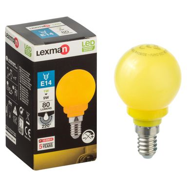 Żarówka dekoracyjna LED E14 (230 V) 1 W 249 lm żółta LEXMAN