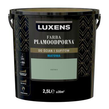 Farba wewnętrzna PLAMOODPORNA 2.5 l Cactus 5 LUXENS