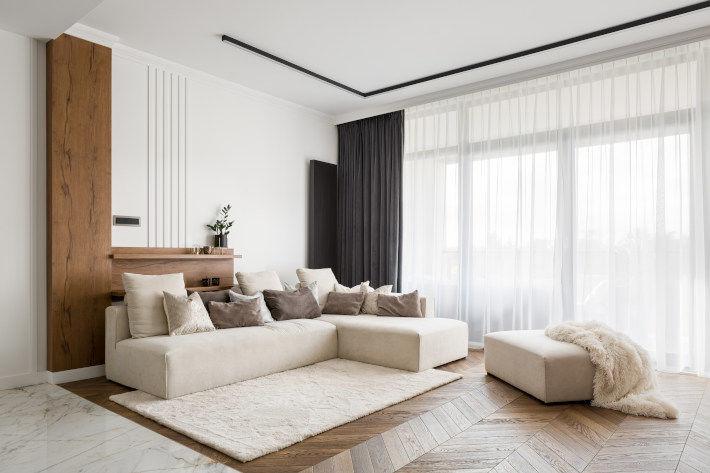 Urządzony salon w mieszkaniu