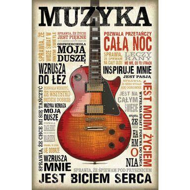 Plakat MUSIC IS PASSION 61 x 91.5 cm