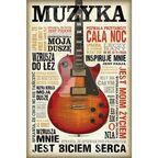 Plakat MUSIC IS PASSION 61 x 91,5 cm