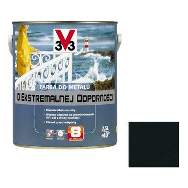Farba antykorozyjna O EKSTREMALNEJ ODPORNOŚCI 2.5 l Czarny Połysk V33