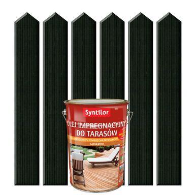 Olej impregnacyjny do tarasów SATURATOR 5 l Szary grafit SYNTILOR