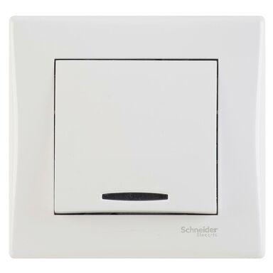 Włącznik pojedynczy z podświetleniem SEDNA  biały  SCHNEIDER