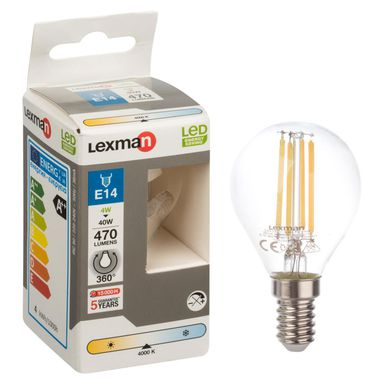 Żarówka LED E14 (230 V) 4 W 470 lm LEXMAN