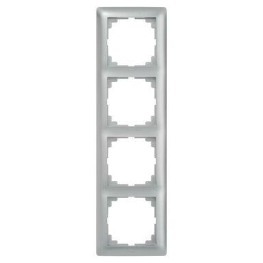 Ramka poczwórna ASTORIA  srebrny  ELEKTRO-PLAST