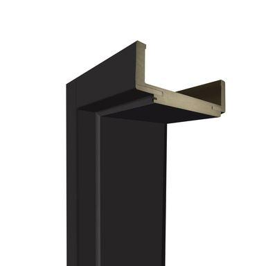 Ościeżnica regulowana do skrzydeł bezprzylgowych 90 Lewa Czarny mat 140 - 180 mm Artens