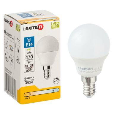 Żarówka LED E14 5 W 470 LM Ciepła biel LEXMAN