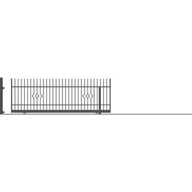 Brama przesuwna bez przeciwwagi LILA 430 x 152 cm prawa POLARGOS