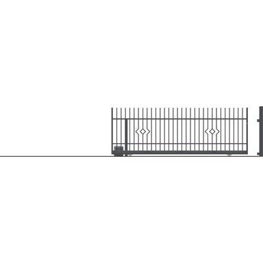 Brama przesuwna bez przeciwwagi z automatem LILA 400 x 152 cm lewa POLARGOS