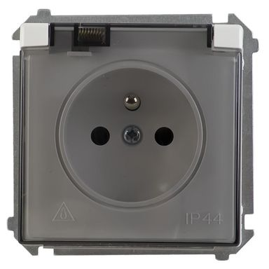 Gniazdo IP44 BASIC  Biały  SIMON