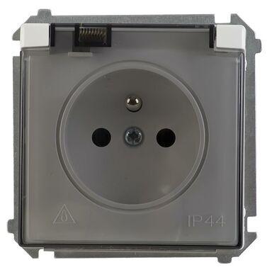 Gniazdo pojedyncze IP44 BASIC biały SIMON