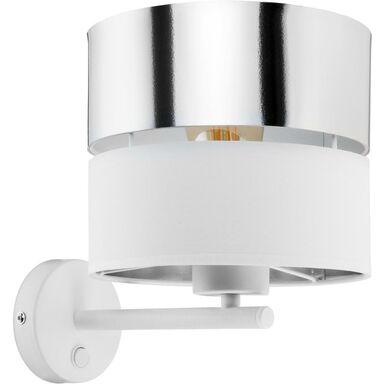 Kinkiet Hilton biało-srebrny E27 TK Lighting