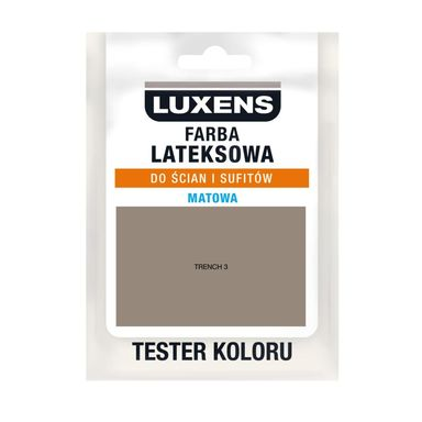 Tester farby LATEKSOWA 25 ml Trench 3 LUXENS