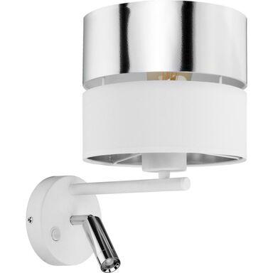 Kinkiet Hilton biało-srebrny E27 + LED TK Lighting