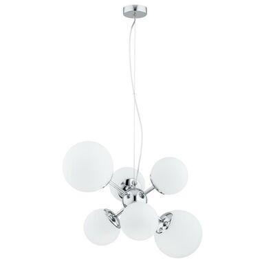 Lampa wisząca Era biała z chromem 6 x E27 Prezent