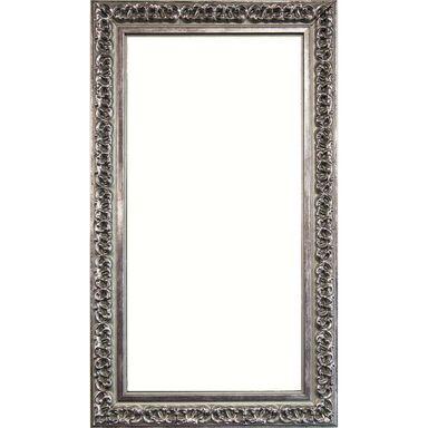 Lustro Ornament srebrne 45 x 110 cm w drewnianej ramie