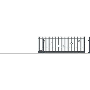 Brama przesuwna bez przeciwwagi z automatem RITA II 430 x 152 cm Lewa POLARGOS