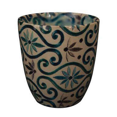 Osłonka ceramiczna 16 cm beżowa NOVA