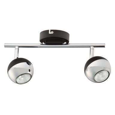 Listwa reflektorowa BIANCA czarna / chrom GU10 SPOT-LIGHT