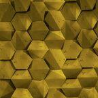Kamień dekoracyjny PLAYA/HEXAGON 3D Złoty 19,5 x 17 cm STEINBLAU