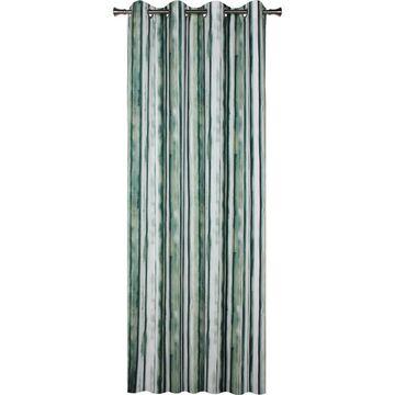 Zasłona ALATA zielona 140 x 245 cm na przelotkach