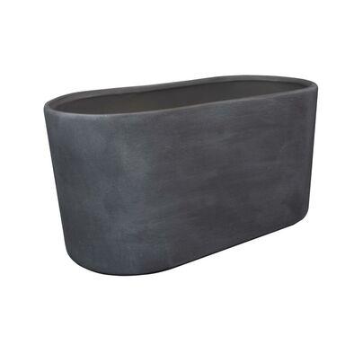 Osłonka na doniczki 25 x 13.5 cm ceramiczna szara CAPRI MINI