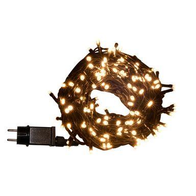 Lampki choinkowe zewnętrzne 14.95 m 200 LED białe ciepłe z gniazdem