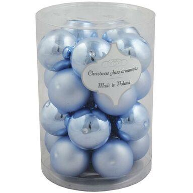 Bombka szklana 6 cm 20 szt. niebieska gładka