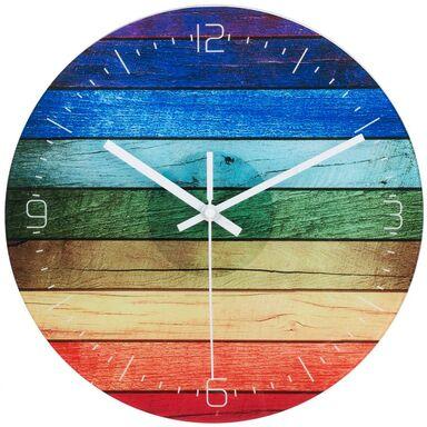 Zegar ścienny szklany RAINBOW śr. 30 cm multikolor