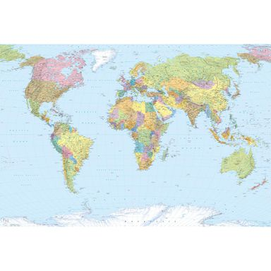 Fototapeta WORLD MAP 368 x 248 cm KOMAR