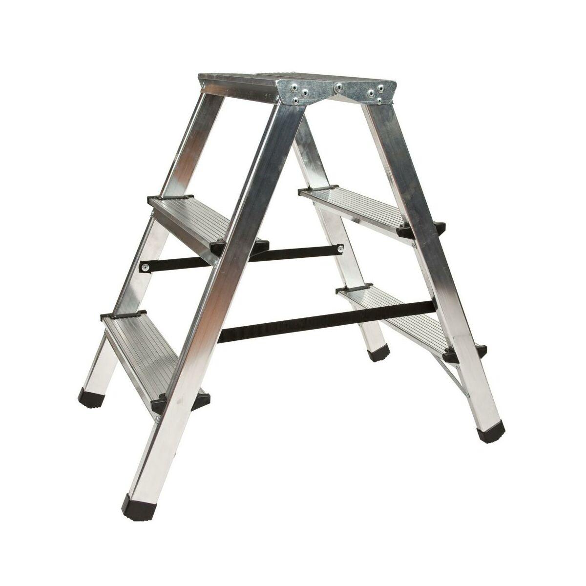 Drabina 2 Stronna 2 Stopnie Z Podestem Aluminiowa Drabest Drabiny I Schodki W Atrakcyjnej Cenie W Sklepach Leroy Merlin