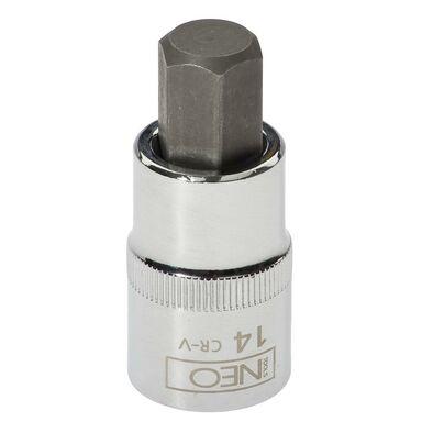 """Końcówka 6-kątna na nasadce 1/2"""" H14 x 55 mm 08-776 Neo"""