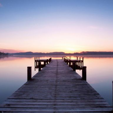 Fototapeta PIER AT SUNRISE 254 x 366 cm