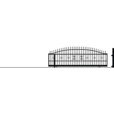 Brama przesuwna bez przeciwwagi ELIZA III 400 x 152 cm Lewa POLARGOS