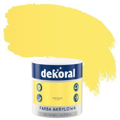 Farba wewnętrzna do ścian i sufitów KOLORY, KTÓRE INSPIRUJĄ 2.5 l Koktajl bananowy DEKORAL