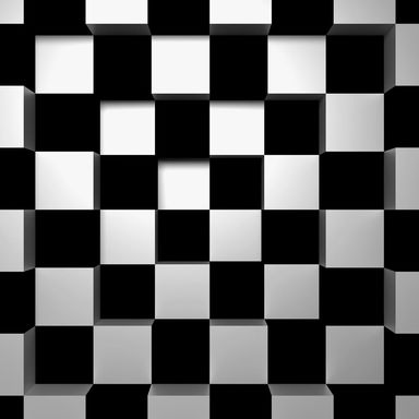 Fototapeta BLACK&WHITE SQUARES 254 x 366 cm
