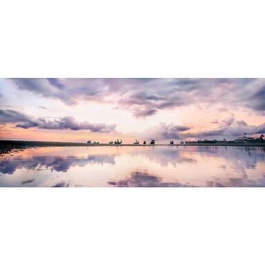 Obraz szklany GLASSPIK PEACH HORIZONT 125 x 50 cm