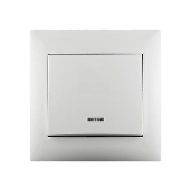 Przycisk dzwonek LIKA Biały z podświetleniem LEXMAN
