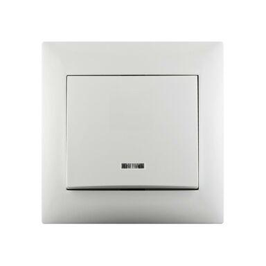 Włącznik pojedynczy SCHODOWY LIKA Biały z podświetleniem LEXMAN