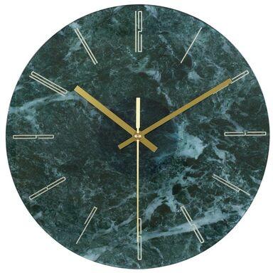 Zegar ścienny szklany Marble śr. 30 cm turkusowy