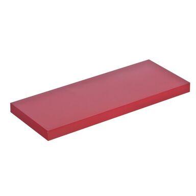 Półka ścienna KOMOROWA Czerwona lakierowana 60 x 23,5 cm SPACEO